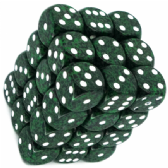 Green & Black 'Recon' Speckled 12mm D6 Dice Block